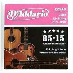 D'Addario EZ 940 - Struny pre 12-strunovú gitaru