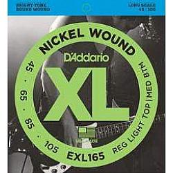 D´Addario EXL165 045/105 struny na basgitaru, nikel
