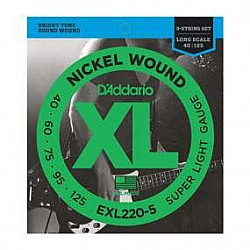 D'Addario EXL220-5 - struny na 5-str. basgitaru 40/125