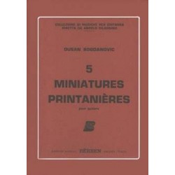Bogdanovic, Dusan - 5 Miniatures Printaniéres