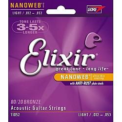 Elixir Nanoweb 11052 - Struny pre akust. gitaru, Bronze