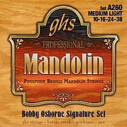 GHS A260 Struny pre mandolínu 011/038 Bobby Osborne Sign