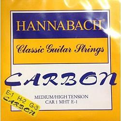 Hannabach  Carbon - karbónové struny E,H,G na klasickú git