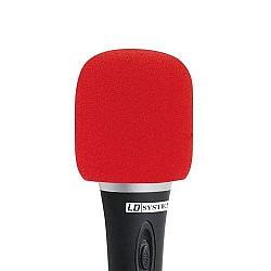 LD Systems - Windschutz na mikrofón,červený