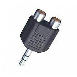M-Cables Redukcia - Jack 3,5 mm stereo / 2 x RCA zásuvka