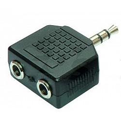 M-Cables Spojka - 2 x 3,5 mm stereo Jack /Jack 3,5 mm stereo