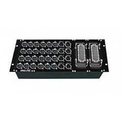 """NeoFlex Profi stagebox 19"""", 24/8 neutrik, 2x MP-64"""