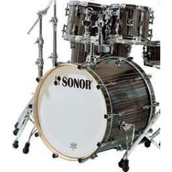 Sonor S Classix Stage 3, Ebony - Akustické bicie, shell set