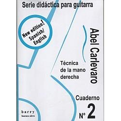 Carlevaro, Abel -  Cuaderno No. 2 Téchnica da la mano derecha