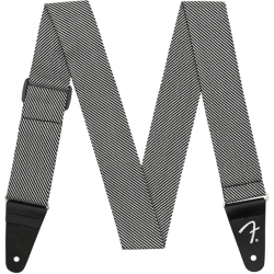 "Fender 2"" Modern Tweed Strap - White / Black - pás na gitaru"