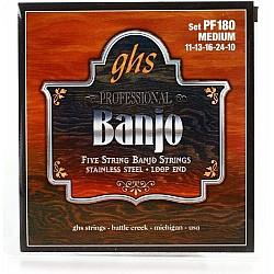 GHS PF180 Struny pre 5-strunové banjo 011/010
