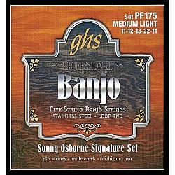 GHS PF175 Struny pre 5-strunové banjo 011/011