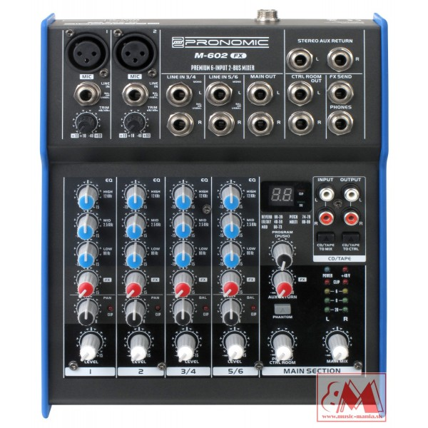 Pronomic M-602FX - Mini Mixpult s efektami